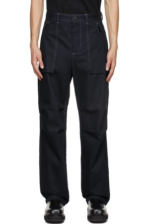MSGM Black Logo Cargo Trousers