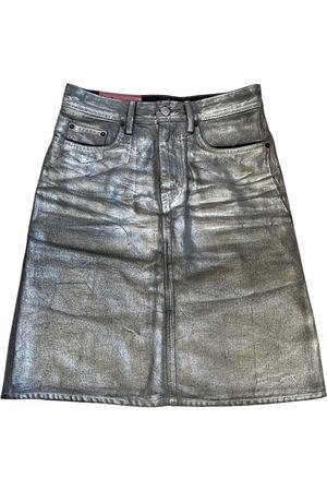 Acne Studios Women Leather Skirts - Blå Konst leather mid-length skirt
