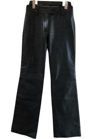 Dolce & Gabbana Women Leather Pants - Leather straight pants