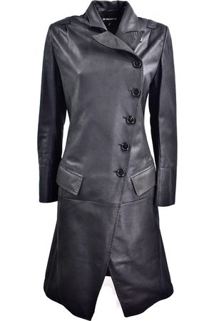 ANN DEMEULEMEESTER Leather coat