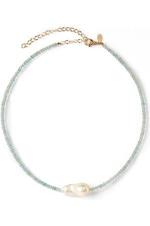 Joie DiGiovanni Aquamarine Single Baroque Pearl Gemstone Necklace