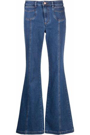 See by Chloé Indigo- High-Waisted Flared Jeans