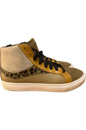 Coach Leather high-top trainers