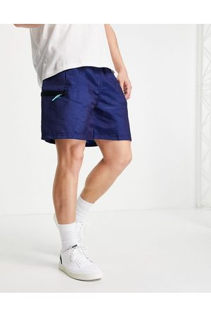 PUMA Men Sports Shorts - Hoops woven crinkle shorts in navy