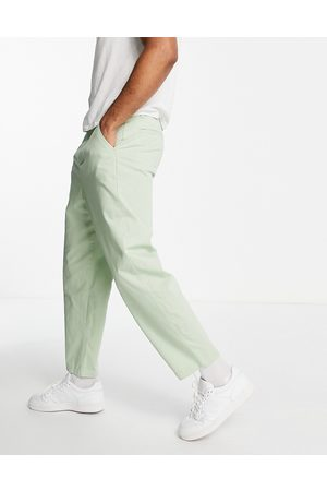 ASOS Oversized tapered fit chinos in light