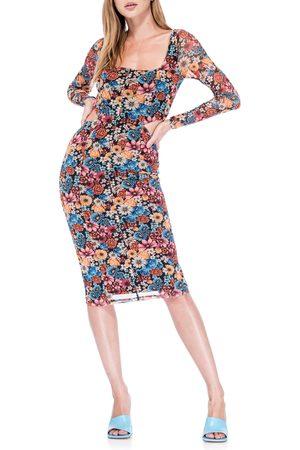 AFRM Women's Galina Cutout Mesh Long Sleeve Dress