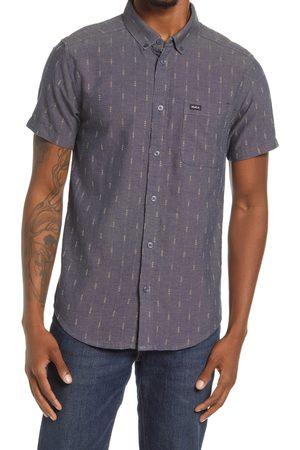 RVCA Men's That'Ll Do Dobby Short Sleeve Button-Down Shirt
