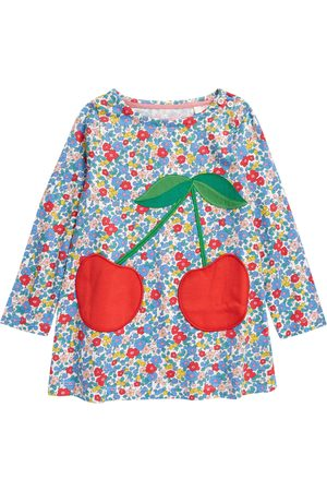 Boden Girls Tunics - Toddler Girl's Kids' Guinea Pig Applique Floral Tunic Top