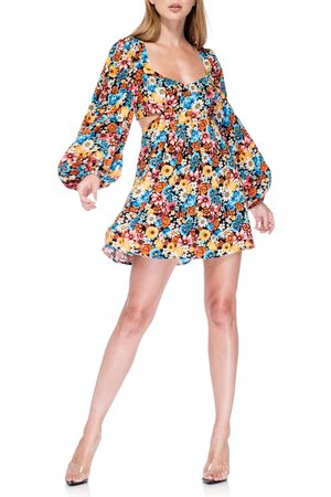 AFRM Women's Ares Long Sleeve Cutout Minidress