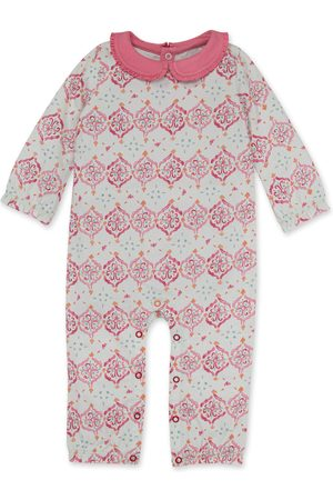 Burt's Bees Infant Girl's Mosaic Print Organic Cotton Romper