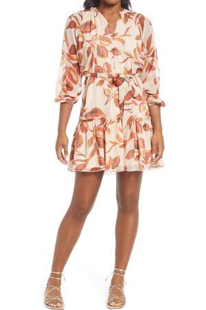 Adelyn Rae Women Long sleeves - Women's Trina Popover Long Sleeve Chiffon Dress