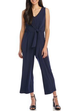 Karen Kane Women's Tie Front Crop Sleeveless Jumpsuit