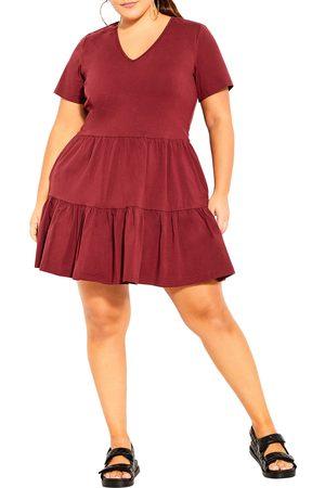 City Chic Plus Size Women's Social Tier Dress