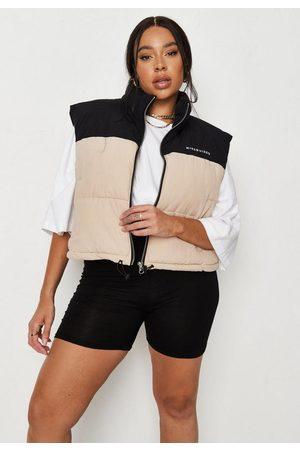 Missguided Plus Size Sand Colorblock Vest