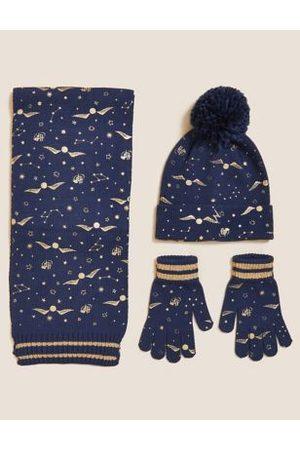 Girls Gloves - Kids' Hat, Scarf and Gloves Set (1-13 Yrs)