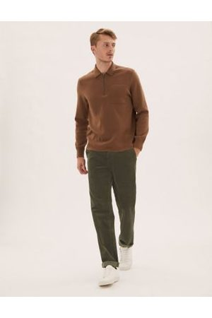M&S Collection Regular Fit Luxury Corduroy Stretch Trousers