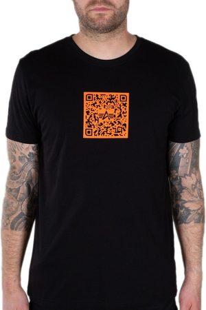 Alpha Industries Qr Code Short Sleeve T-shirt M Black / Orange