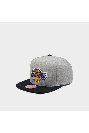 Mitchell And Ness Mitchell & Los Angeles Lakers NBA Heathered Grey Hardwood Classics Pop Snapback Hat Acrylic/Wool