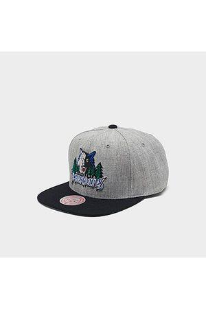 Mitchell And Ness Mitchell & Ness Minnesota Timberwolves NBA Heathered Grey Hardwood Classics Pop Snapback Hat Acrylic/Wool