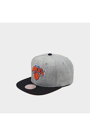 Mitchell And Ness Mitchell & Ness New York Knicks NBA Heathered Grey Hardwood Classics Pop Snapback Hat Acrylic/Wool