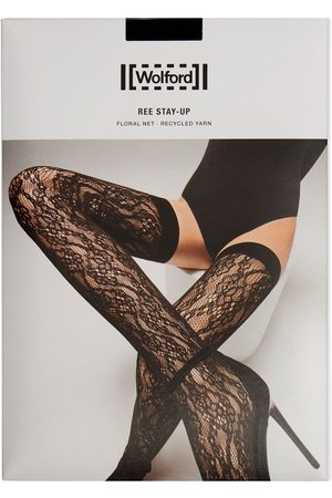 WOLFORD Ree Florale Net Stay-up Stockings
