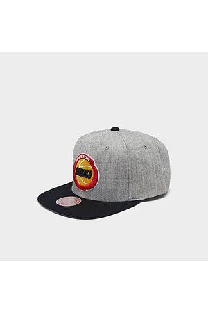 Mitchell And Ness Mitchell & Ness Houston Rockets NBA Heathered Grey Hardwood Classics Pop Snapback Hat Acrylic/Wool