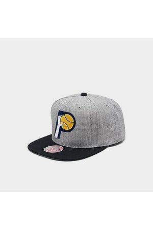 Mitchell And Ness Mitchell & Ness Indiana Pacers NBA Heathered Grey Hardwood Classics Pop Snapback Hat Acrylic/Wool