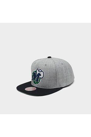 Mitchell And Ness Mitchell & Ness Dallas Mavericks NBA Heathered Grey Hardwood Classics Pop Snapback Hat Acrylic/Wool