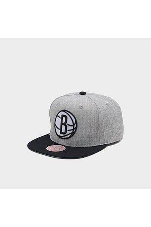 Mitchell And Ness Mitchell & Ness Brooklyn Nets NBA Heathered Grey Hardwood Classics Pop Snapback Hat Acrylic/Wool