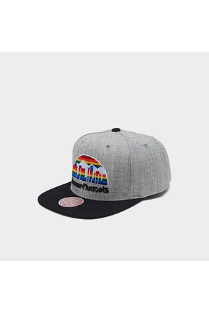 Mitchell And Ness Mitchell & Ness Denver Nuggets NBA Heathered Grey Hardwood Classics Pop Snapback Hat Acrylic/Wool