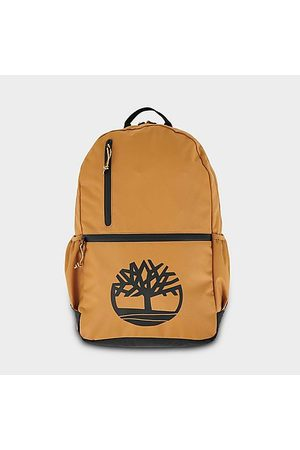 Timberland Large Logo Backpack in Brown/Wheat