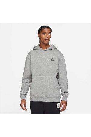 Nike Jordan Jordan Men's Essentials Fleece Pullover Hoodie in Grey/Carbon Heather Size Small Cotton/Polyester/Fleece