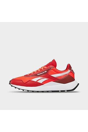 Reebok Men's Classic Leather Legacy AZ Casual Shoes in /Neon Cherry Size 6.0 Leather/Nylon/Suede