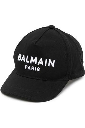 Balmain Kids Logo-embroidered baseball cap