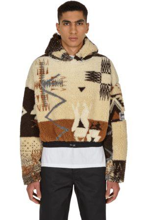 ARIES Men Fleece Jackets - Cropped ikat fleece anorak SAND S