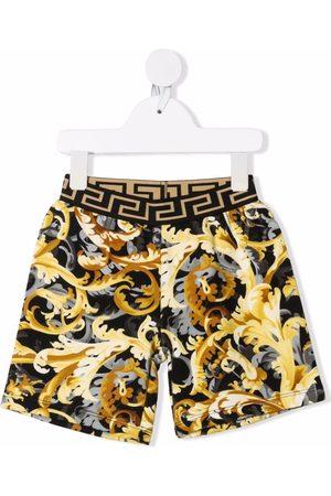 VERSACE Baroccoflage-print Greca-detail shorts