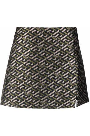 Versace La Greca high-waist miniskirt