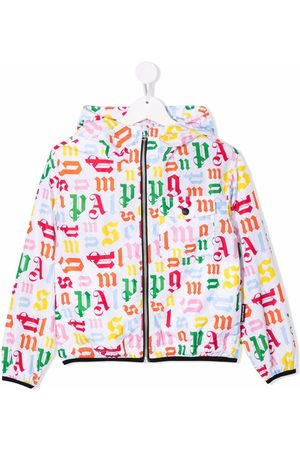 Palm Angels Kids Girls Rainwear - Logo-print windbreaker