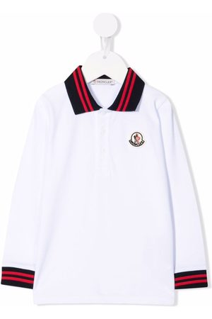 Moncler Logo-patch long-sleeved polo shirt