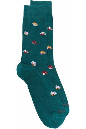 Etro Men Socks - Intarsia-knit ankle socks