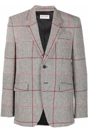 Saint Laurent Check-print blazer