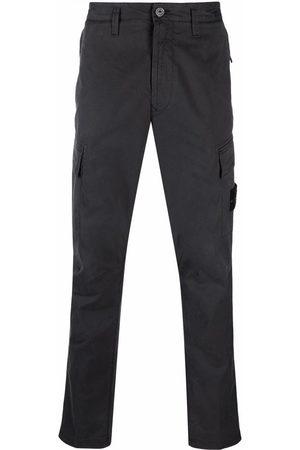 Stone Island Men Straight Leg Pants - Logo-patch trousers