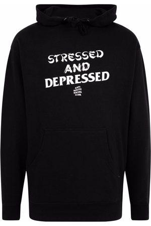 ANTI SOCIAL SOCIAL CLUB Men Hoodies - Slogan-print hoodie