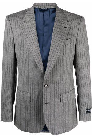 Dolce & Gabbana Men Blazers - Pinstripe single-breasted blazer - Grey