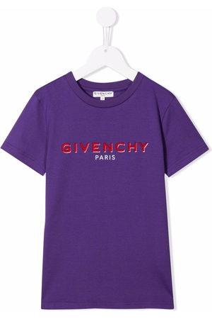 Givenchy Boys Short Sleeve - Short-sleeve logo-print T-shirt