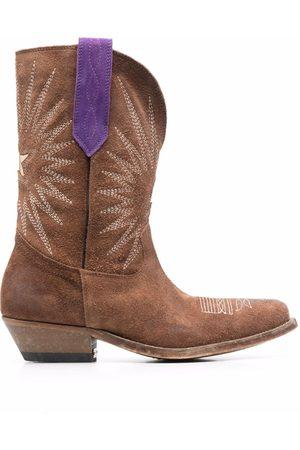 Golden Goose Women Cowboy Boots - Wish Star mid-calf cowboy boots