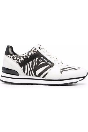 Michael Kors Women Sneakers - Zebra-print lace-up sneakers