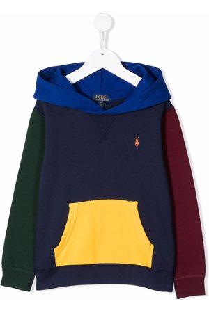 Ralph Lauren Colour-blocked Polo Pony hoodie