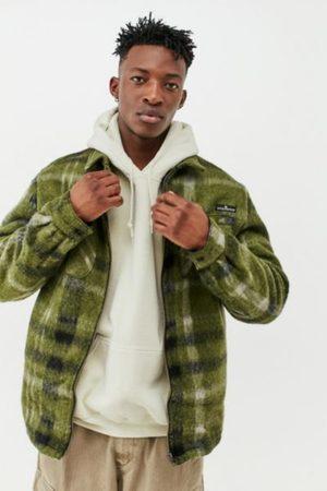 BDG Plaid Zip-Up Shirt Jacket