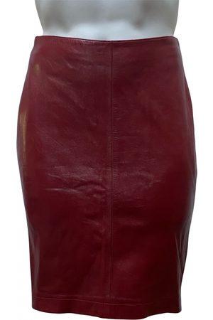 Joseph Leather mid-length skirt